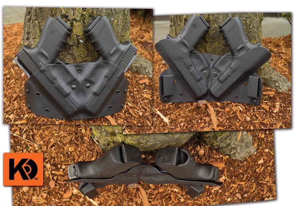 custom 6 O'clock double gun holster from K Rounds