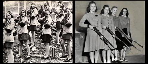 Teaching guns in schools - girls gun club