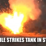 missile strikes tank Syria 150x150 US Navy deploys laser weapon to Persian Gulf for first ever combat mission