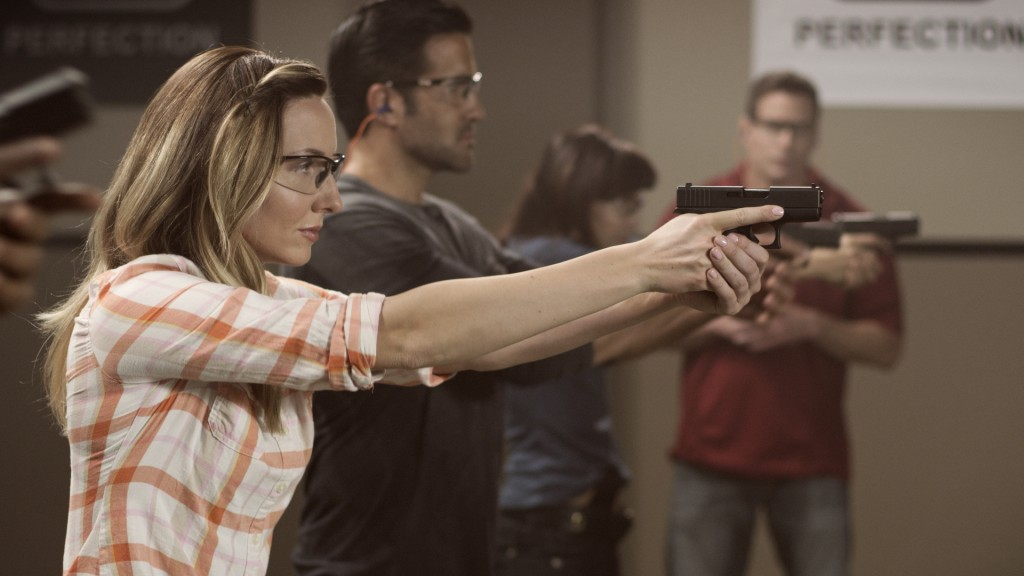 Amanda Furrer is an Olympic shooter featured in the recent GLOCK commercial. She didn't write our review but since Janice didn't want to be shown on camera this photo will need to serve. Thank you Amanda Fuller and GLOCK for use of the image.
