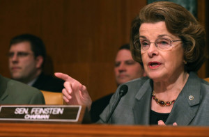 WASHINGTON, DC - MAY 14: U.S. Sen. Dianne Feinstein (D-CA) (R) speaks while U.S. Sen. Chuck Grassley (R-IA)listens during s Senate Caucus on International Narcotics Control hearing on Capitol Hill May 14, 2014 in Washington, DC. The hearing's focus was on America's addiction to Heroin and prescription drug abuse. (Photo by Mark Wilson/Getty Images)
