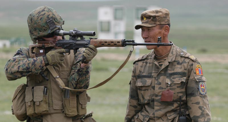 Training with US Marines - SVD Dragunov