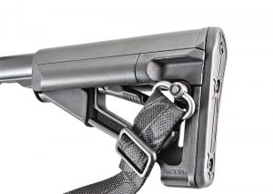 An adjustable magpul STR buttstock, with built-in QD sling receptacles, offers an outstanding cheek weld and ergonomics.