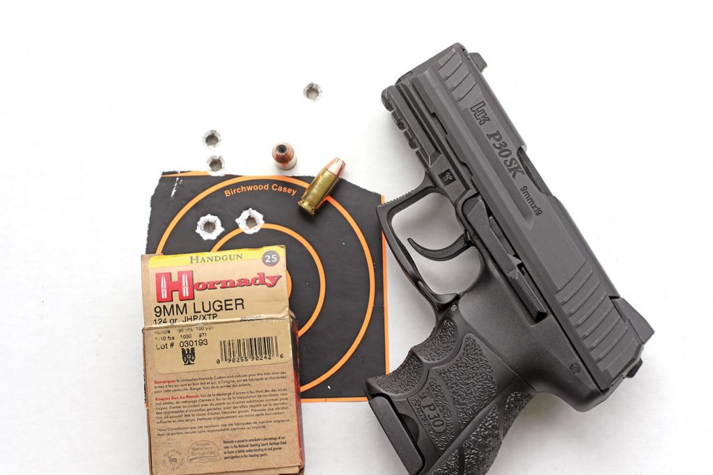 P30SK was tested for On Target with 115-, 124-, and 147-grain 9mm ammo.