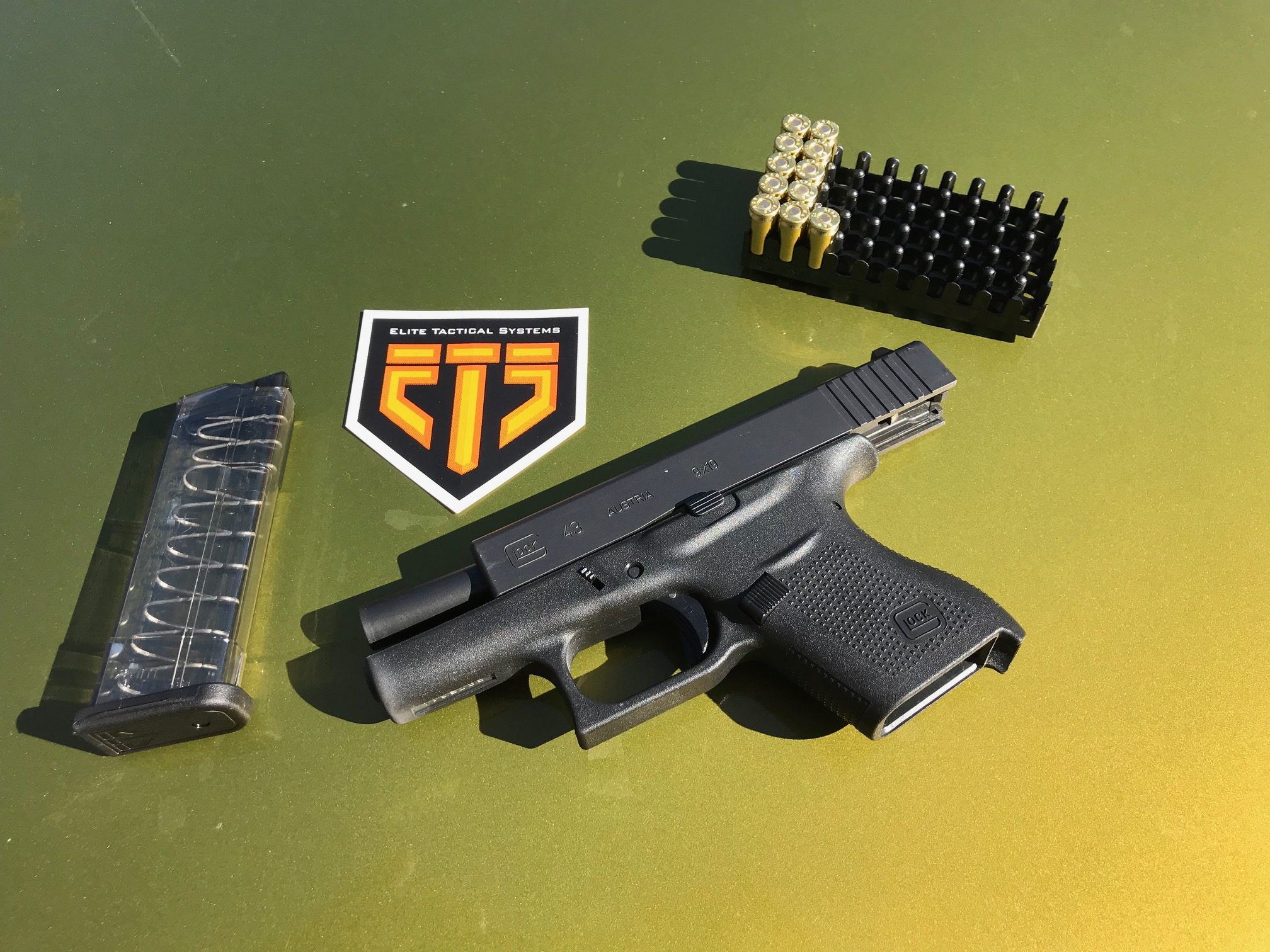 Details about  /ETS 9 Round Mag For Glock 43-100/% Reliability