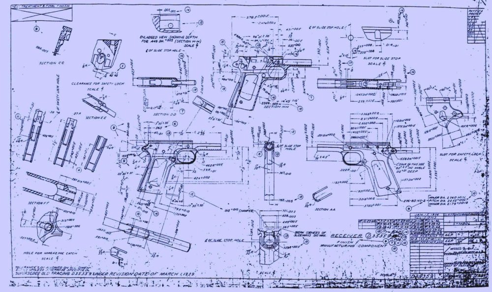 The plans distributed are primarily for guns long in the public domain, such as the M1911 pistol, but optimized for CAD technology and 3D printing. (Photo: NARA)