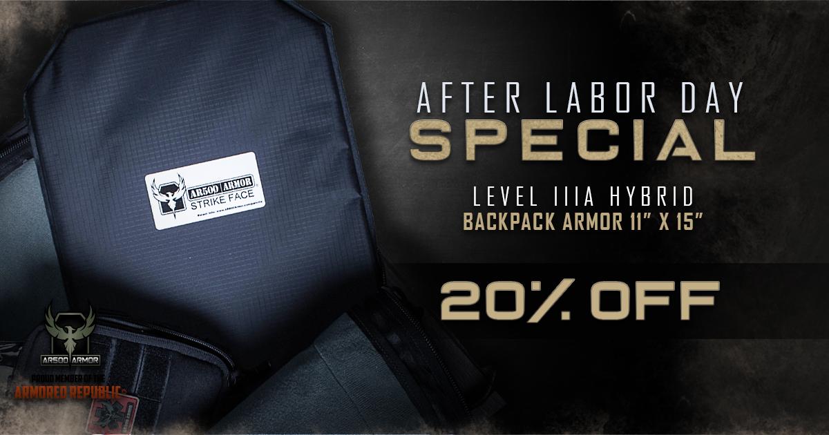 preparation backpack armor
