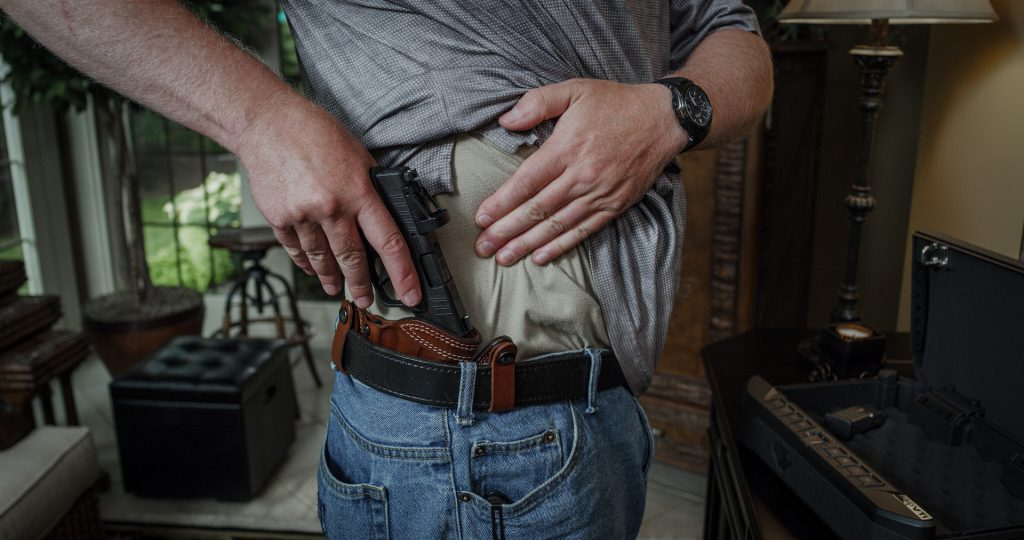 Hellcat in an IWB concealable holster Springfield
