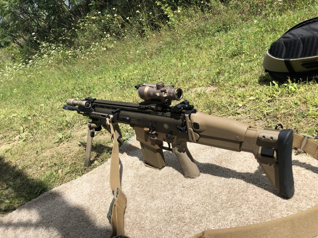 SCAR 17 being shot for data comparison against the Tavor 7