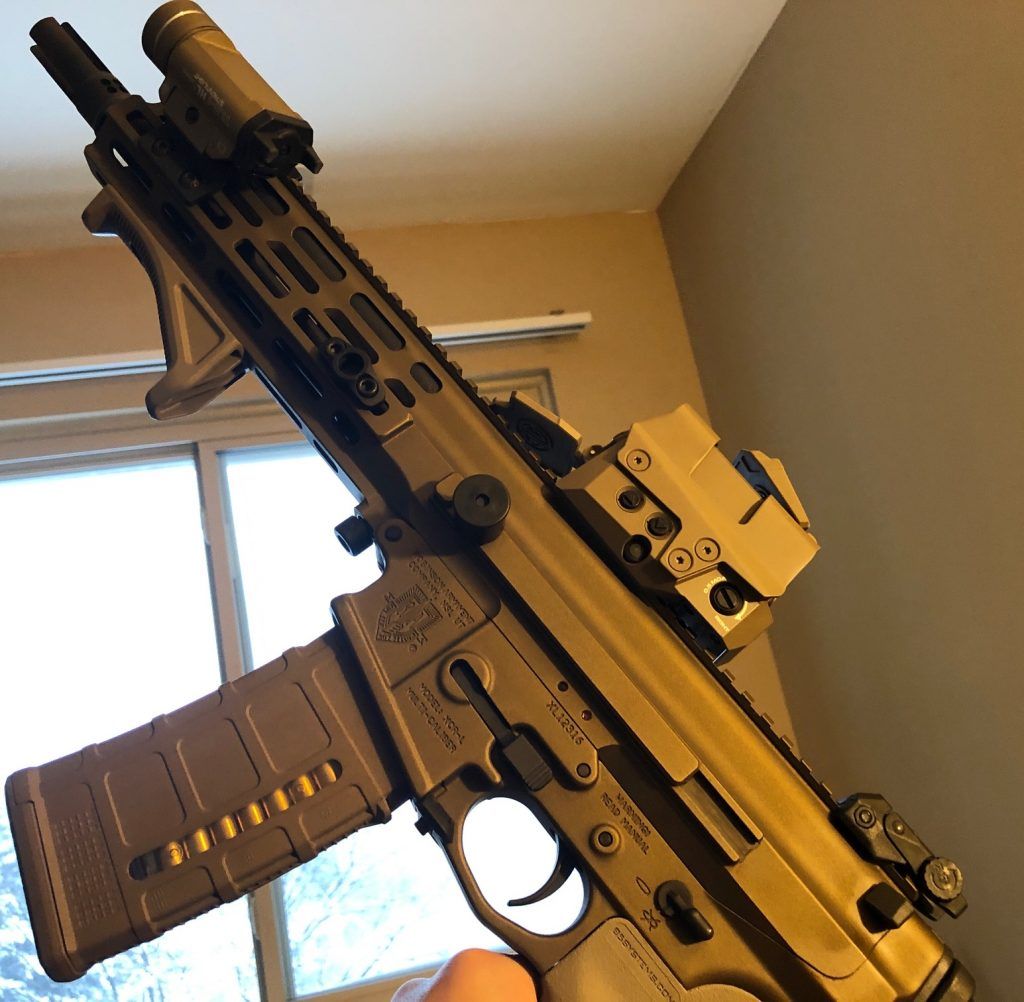 XCR-L from Robinson Armament with the ROMEO8T Red Dot Reflex Sight and Streamlight TLR-1 HL