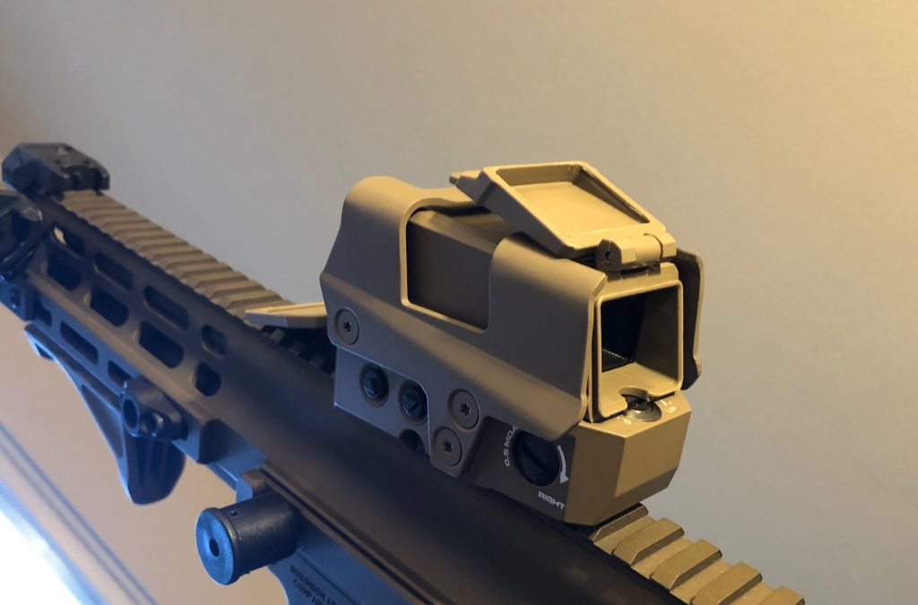 ROMEO8T CQS Reflex Red Dot Optic with side controls on an XCR-L