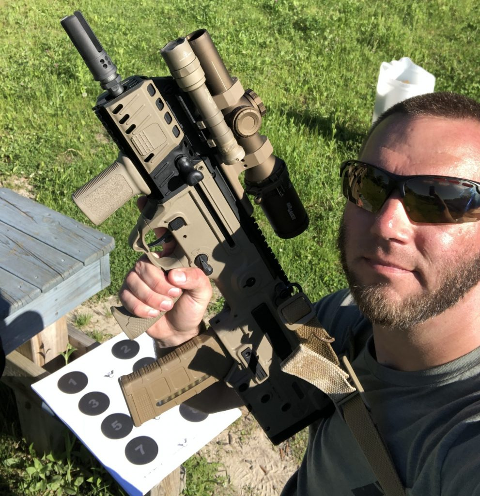 X95 SBR from IWI in 5.56 NATO 223 Remington with Sig LPVO Tango6T optic and surefire scout light