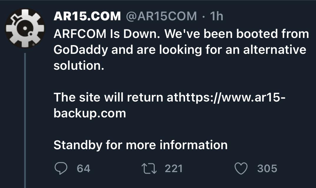 ARFCOM (AR15.com) De-Platformed – GAT Daily (Guns Ammo Tactical)