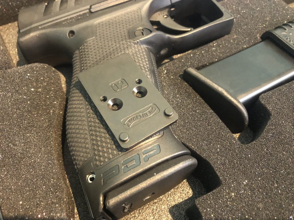 Walther RMR optics plate for the PDP police duty pistol can order directly from walther and one will ship free from walther after buying the pistol