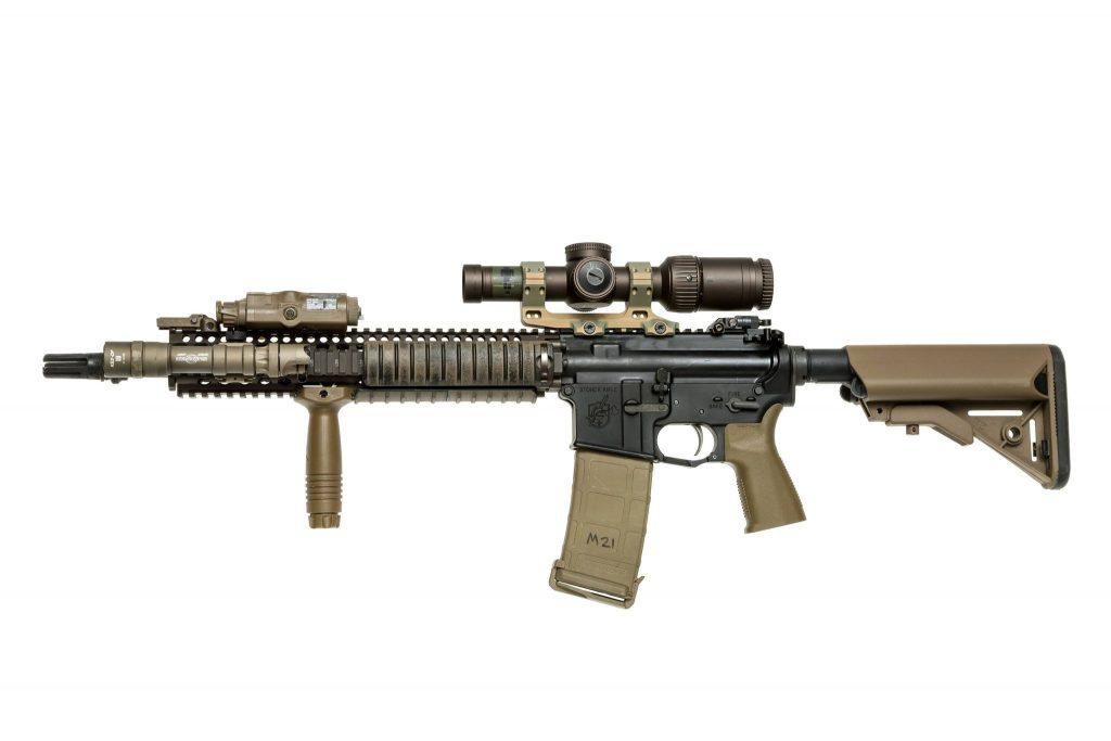 aus mount on a kac rifle lpvo