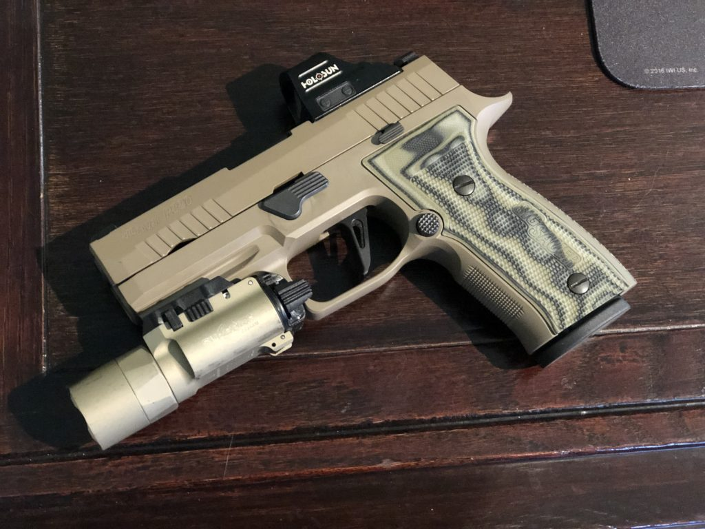 p320 axg scorpion with holosun 507c and x300u-a surefire light